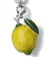 Подвеска Лимон серебро с эмалью CS35