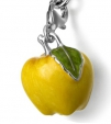 Подвеска Яблоко желтое серебро с эмалью CS31G