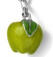 Подвеска Яблоко зелёное серебро с эмалью CS31Z