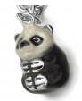 Подвеска Панда серебро с эмалью CSM111