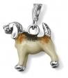 Подвеска Собака серебро с эмалью CSM54