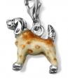 Подвеска Собака серебро с эмалью CSM55