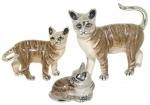 Кошки серебро с эмалью ST96K