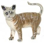 Кошка большая серебро с эмалью ST96K-1