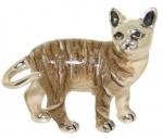 Кошка средняя серебро с эмалью ST96K-2
