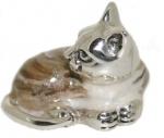 Кошка малая серебро с эмалью ST96K-3