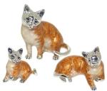 Кошки серебро с эмалью ST259