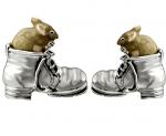 Мыши в ботинках серебро  ST184.