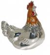 Курочка малая серебро с эмалью ST83-3