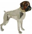 Собака породы Боксер серебро ST169