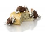 Мыши с сыром серебро ST348