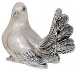 Голубь большой серебро с эмалью ST298-1