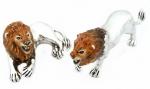 Два льва с эмалью ST308