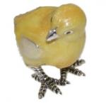 Цыпленок серебро с эмалью ST307-2