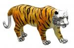Тигр большой серебро ST378