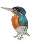 Зимородок средний (Рыбалочка) серебро ST304-2