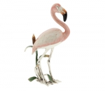 Фламинго серебро с эмалью ST368