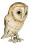 Сова-Сипуха средняя серебро ST459-2