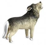Волк серебро с эмалью ST409-1