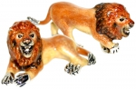 Два льва с эмалью ST321