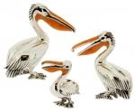 Три пеликана серебро ST22