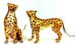 Два гепарда серебро ST447