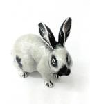 Кролик большой серебро с эмалью ST392-1