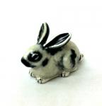 Кролик мленький серебро с эмалью ST392-3