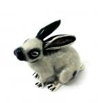 Кролик средний серебро с эмалью ST392-2