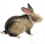 Кролик большой серебро с эмалью ST392S-1