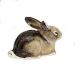 Кролик малый серебро с эмалью ST392S-3