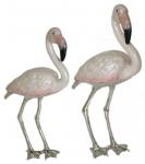 Статуэтка из серебра Розовые Фламинго