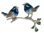 Синие птицы на ветке ST644