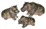 Три Бегемота из серебра ST642