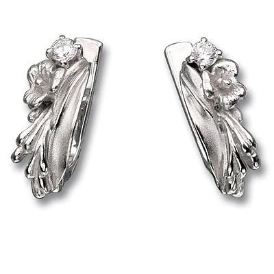 Серьги из серебра ЛУГОВЫЕ ЦВЕТЫ С-15103