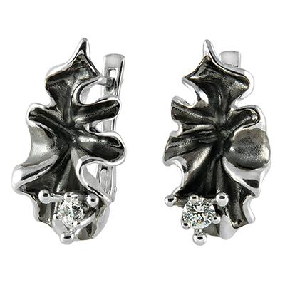 Серьги из серебра ЖАБО С - 15020