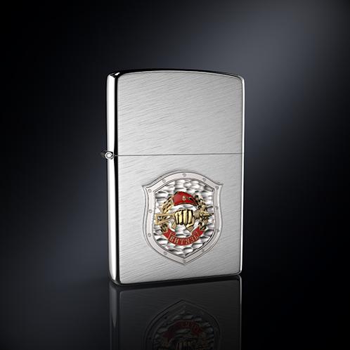 Зажигалка ВИТЯЗЬ эмблема из серебра