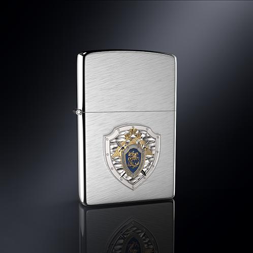 Зажигалка СК РОССИИ эмблема из серебра