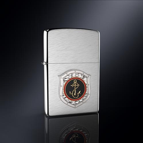 Зажигалка МОРПЕХ РОССИИ эмблема из серебра