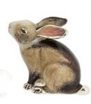 Кролик средний серебро с эмалью ST392S-2