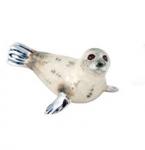 Тюлень большой серебро с эмалью ST358W-2