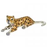 Леопард серебро с эмалью ST545-2