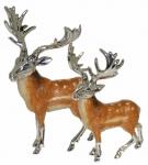 Статуэтки Два Оленя серебро ST601
