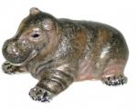 Бегемот малый из серебра ST642-3