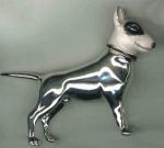 Собака породы Бультерьер серебро ST547-2