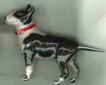 Собака породы Бультерьер серебро эмаль ST548-1