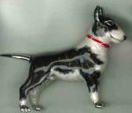 Собака породы Бультерьер серебро эмаль ST548-2