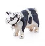 Корова малая серебро эмаль ST496