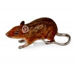 Статуэтка Крыса серебро эмаль ST694