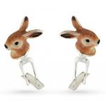 Запонки Кролики с эмалью GM168